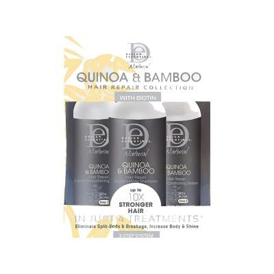 COFFRET RÉPARATEUR - NATURAL QUINOA BAMBOO HAIR REPAIR KIT - Mix Beauty : Expert de la beauté noire et métisse et aussi pour cheveux afro, crépus, frisés, bouclés