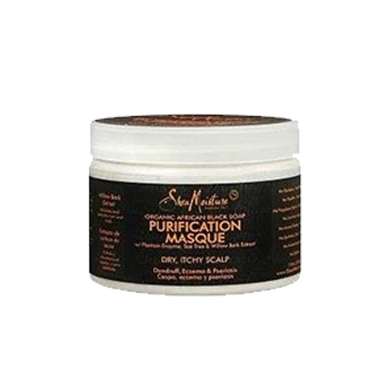MASQUE PURIFIANT ANTI-PELLICULAIRE & ANTI-DÉMANGEAISON - PURIFICATION MASQUE |SHEA MOISTURE AFRICAN BLACK SOAP