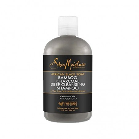 SHAMPOING PURIFIANT SAVON NOIR AFRICAIN AU CHARBON BAMBOU - DEEP CLEANSING SHAMPOO AFRICAN BLACK BAMBOO CHARCOAL