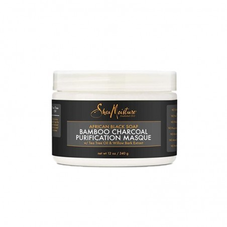 MASQUE PURIFIANT SAVON NOIR AFRICAIN AU CHARBON BAMBOU – BALANCING CONDITIONER AFRICAN BLACK BAMBOO CHARCOAL