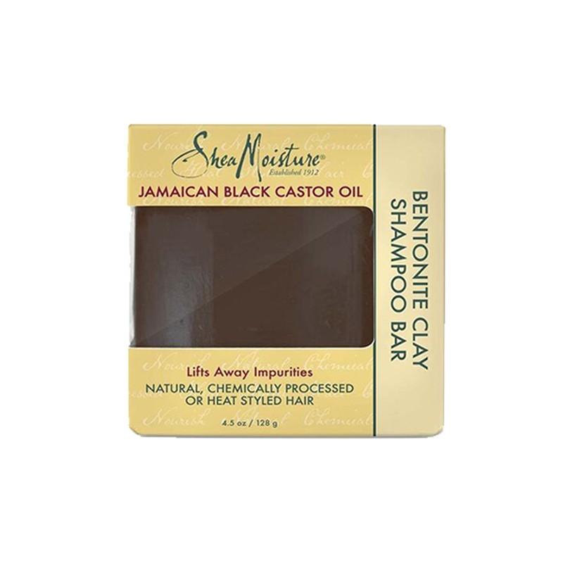 SAVON SHAMPOING À HUILE DE RICIN NOIR DE JAMAÏQUE - SHAMPOO BAR BENTONITE CLAY |JAMAICAN BLACK CASTOR OIL - Mix Beauty : Expert de la beauté noire et métisse et aussi pour cheveux afro, crépus, frisés, bouclés
