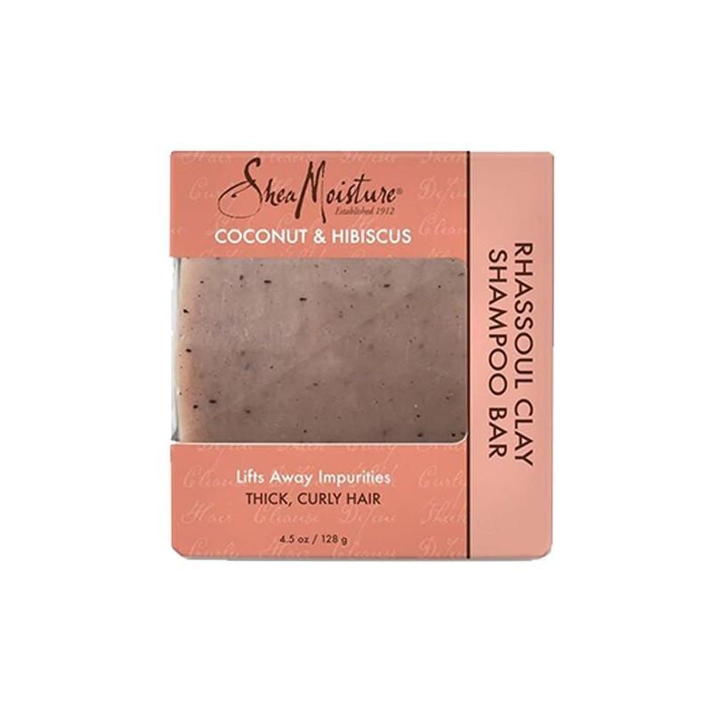 SAVON SHAMPOING - SHAMPOO BAR RHASSOUL CLAY |COCONUT & HIBISCUS - Mix Beauty : Expert de la beauté noire et métisse et aussi pour cheveux afro, crépus, frisés, bouclés
