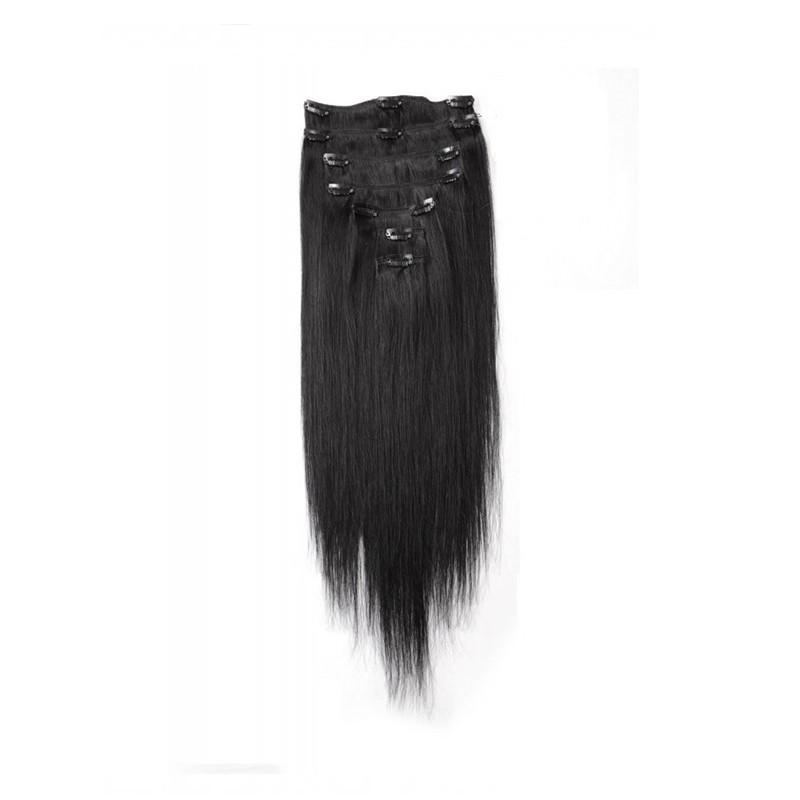 EXTENSIONS À CLIPS 7 BANDES LISSES 100% CHEVEUX NATURELS (REMY HAIR) - Mix Beauty : Expert de la beauté noire et métisse et aussi pour cheveux afro, crépus, frisés, bouclés