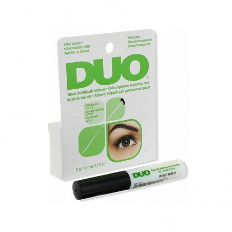 COLLE A PINCEAU BLANCHE TRANSPARENTE POUR FAUX CILS DUO – DUO BRUSH ON STRIPLASH ADHESIVE WHITE CLEAR