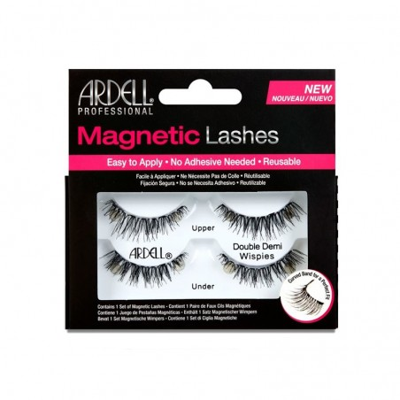 FAUX CILS MAGNETIQUES DOUBLES DEMI-FRANGES -  MAGNETIC DOUBLE DEMI WISPIES FAKE EYELASHES