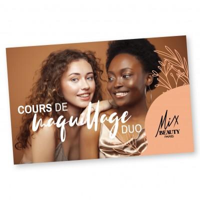 """CARTE CADEAU """"COURS DUO MAKE UP"""" - Mix Beauty : Expert de la beauté noire et métisse et aussi pour cheveux afro, crépus, frisés, bouclés"""