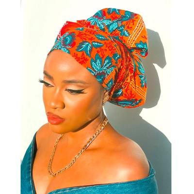 FOULARD WAX AYA - Mix Beauty : Expert de la beauté noire et métisse et aussi pour cheveux afro, crépus, frisés, bouclés