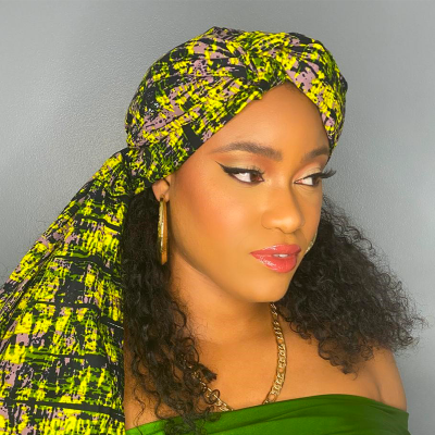 FOULARD WAX LEÏLA - Mix Beauty : Expert de la beauté noire et métisse et aussi pour cheveux afro, crépus, frisés, bouclés