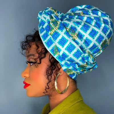 FOULARD WAX AÏCHA - Mix Beauty : Expert de la beauté noire et métisse et aussi pour cheveux afro, crépus, frisés, bouclés