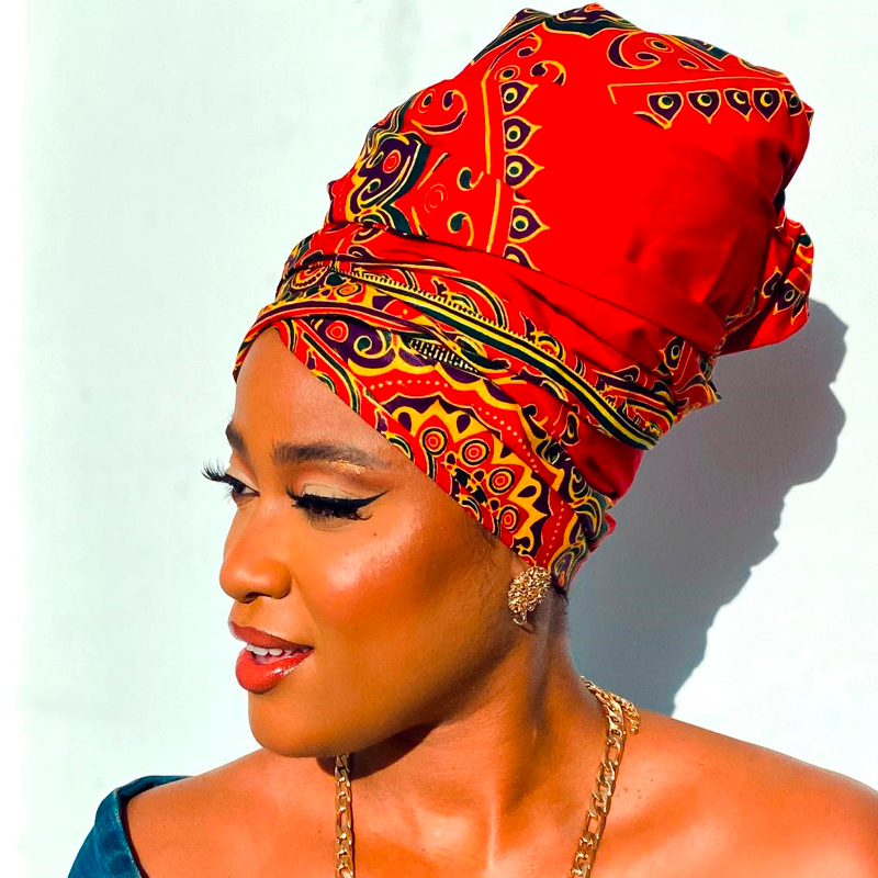 FOULARD WAX NINA - Mix Beauty : Expert de la beauté noire et métisse et aussi pour cheveux afro, crépus, frisés, bouclés