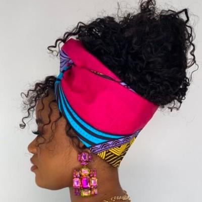 TURBAN WAX SALLY (AVEC FLEXIBLES) CRÉATION - Mix Beauty : Expert de la beauté noire et métisse et aussi pour cheveux afro, crépus, frisés, bouclés