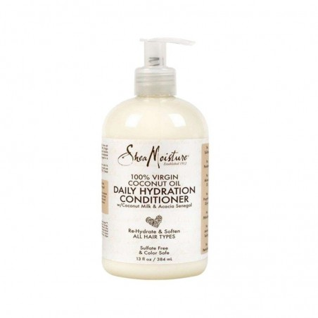 APRÈS-SHAMPOING HYDRATANT - DAILY HYDRATION CONDITIONER  SHEA MOISTURE 100% VIRGIN COCONUT OIL