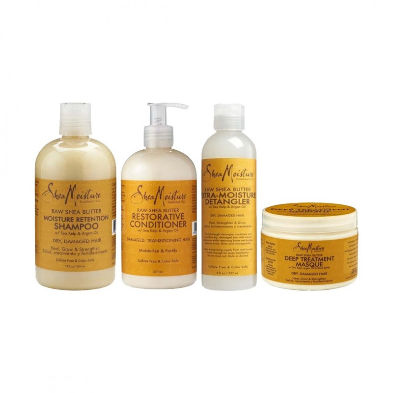 PACK CHEVEUX EN TRANSITION   RAW SHEA BUTTER