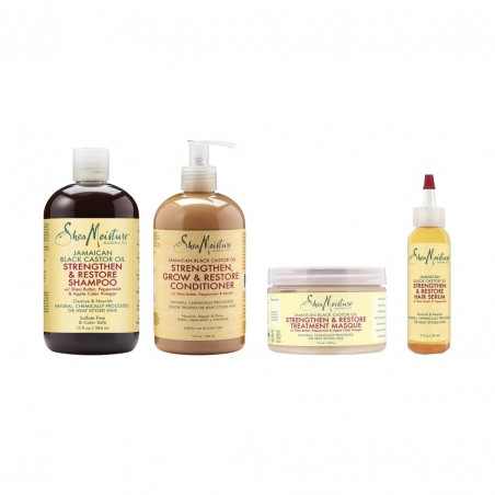PACK CHEVEUX FORTIFICATION | JAMAICAN BLACK CASTOR OIL