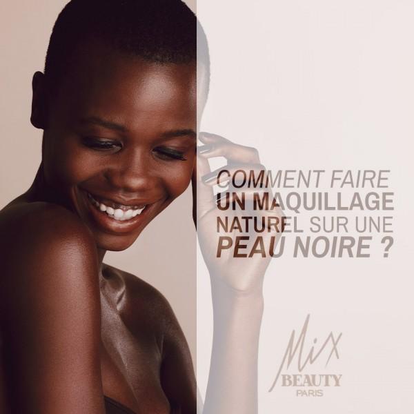 Comment faire un maquillage naturel sur une peau noire ?